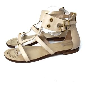 Loretta Pettinari Leather Flat Sandals